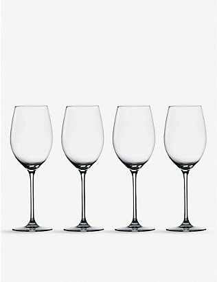 WATERFORD: Marquis Moments crystal glass white wine glasses set of four
