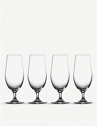WATERFORD: Marquis Moments beer glasses set 4