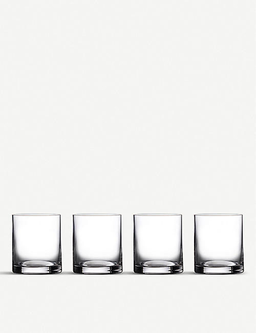 WATERFORD: Marquis Moments Double Old Fashioned glasses set of 4