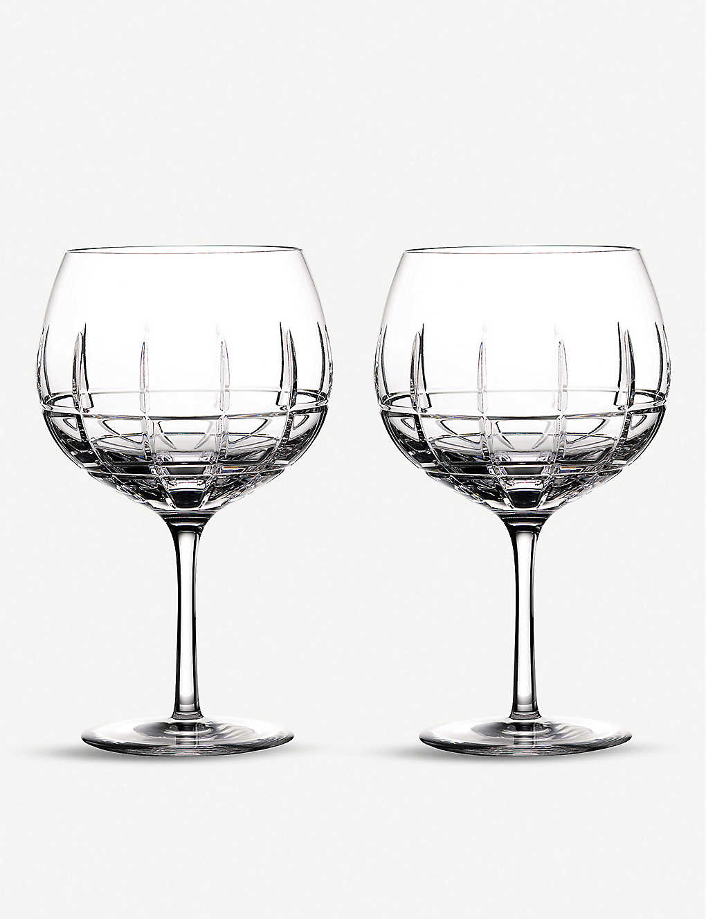 WATERFORD: Gin Journey Cluin Balloon glasses set of two