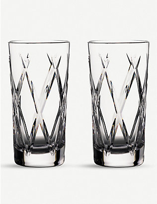 WATERFORD: Gin Journey Olann Hiball crystal glasses, set of 2