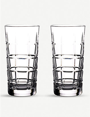 WATERFORD: Gin Journey Cluin Hi Ball Glasses - set of two