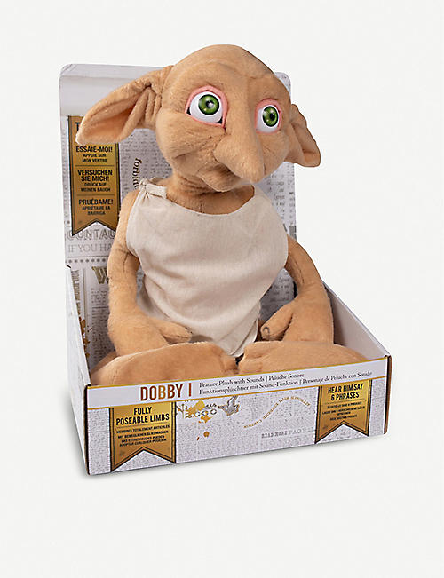 WIZARDING WORLD Dobby the House Elf talking soft toy 40cm