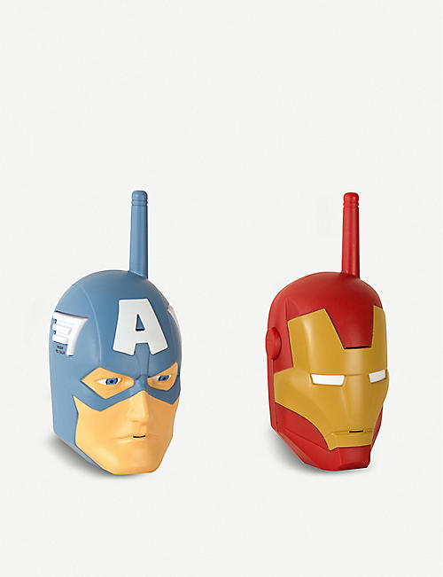 MARVEL AVENGERS Captain America and Iron Man walkie talkies