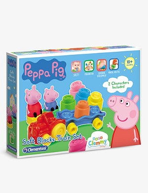 PEPPA PIG Clemmy block train toy