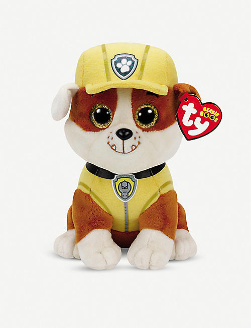 PAW PATROL: Ty Rubble beanie soft toy