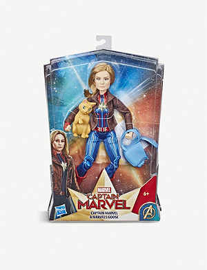 MARVEL AVENGERS Captain Marvel and Goose figure 30cm