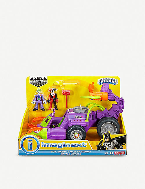 BATMAN DC Super Friends The Joker and Harley Quinn Battle Vehicle playset