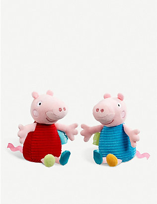 PEPPA PIG: Peppa or George Pig Chime Rattle assortment