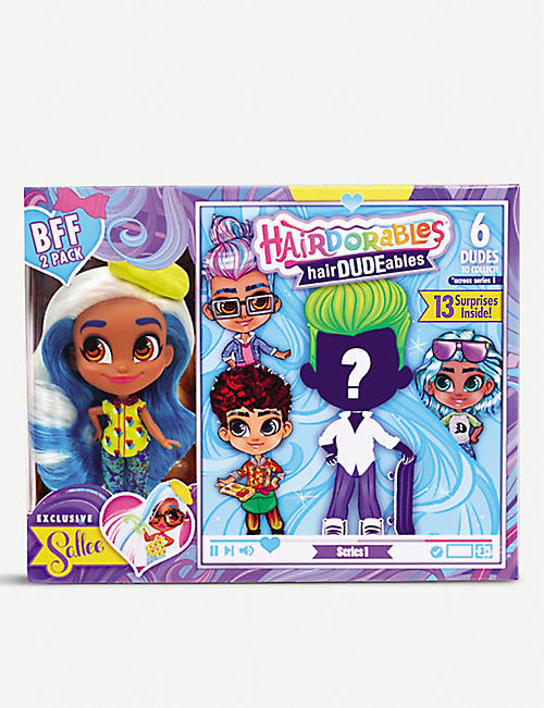 POCKET MONEY Hairdorables HairDUDEables BFF pack