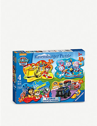 PAW PATROL: Ravensburger 4-in-1 shaped puzzles