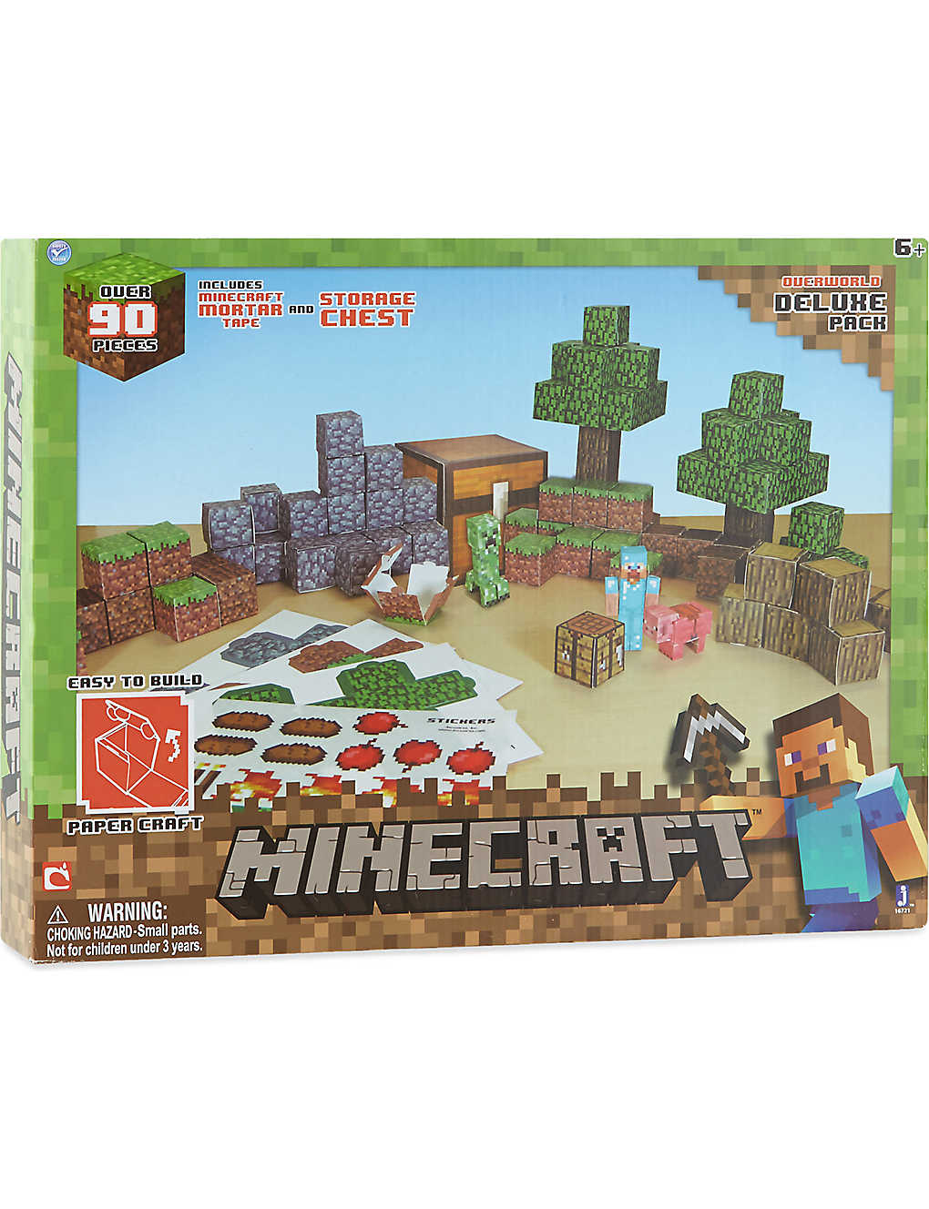 MINECRAFT - Minecraft Papercraft overworld | Selfridges com