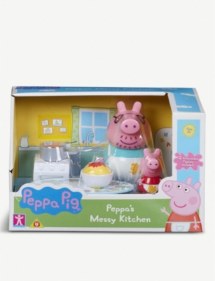 PEPPA PIG Peppa Pig Messy Kitchen and Shopping Trip set of two