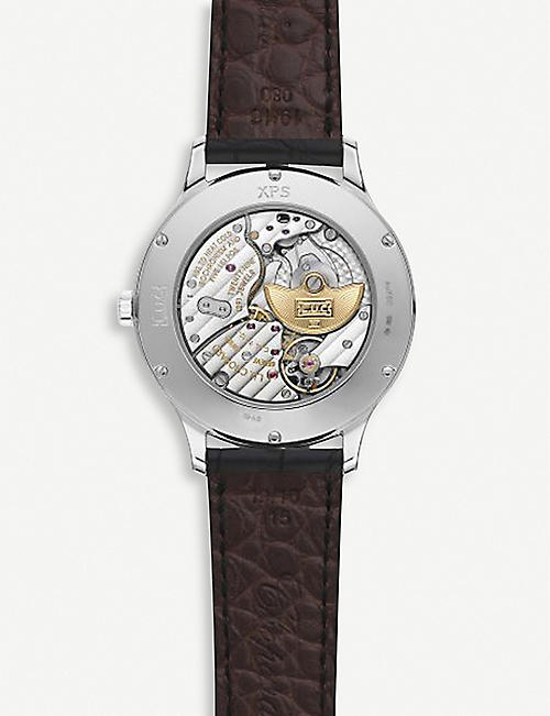 CHOPARD 161948-1001 L.U.C XPS 18ct 白金和鳄鱼皮革天文腕表