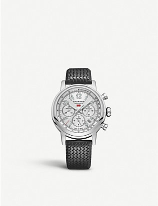 CHOPARD: Mille Miglia Classic Chronograph stainless steel and leather watch