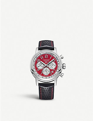 CHOPARD: 168589-3008 Mille Miglia stainless steel and leather watch