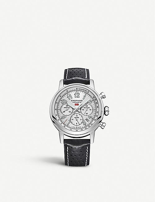 CHOPARD 1685893012 Mille Miglia stainless steel and leather watch