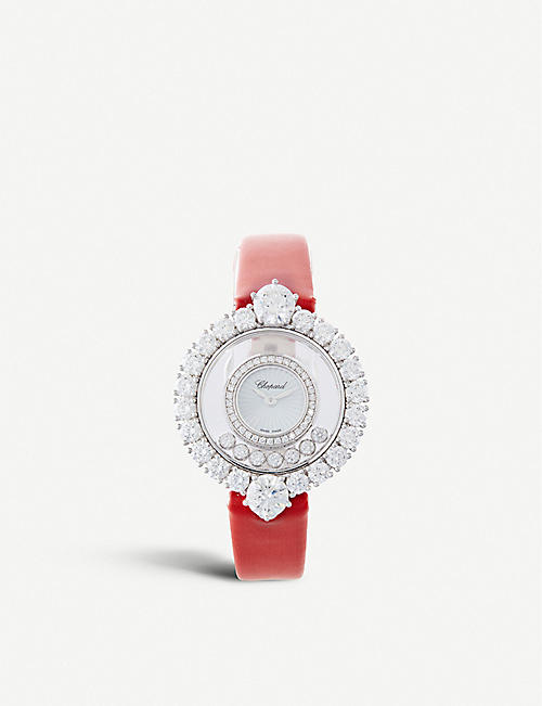 CHOPARD Happy Diamonds 18ct white-gold and diamond watch