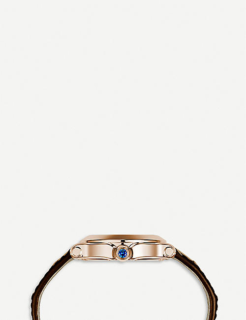 CHOPARD Happy Sport Oval 18ct rose-gold, diamond and alligator-leather watch