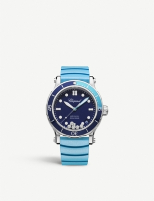 CHOPARD Happy Ocean stainless steel and diamond watch