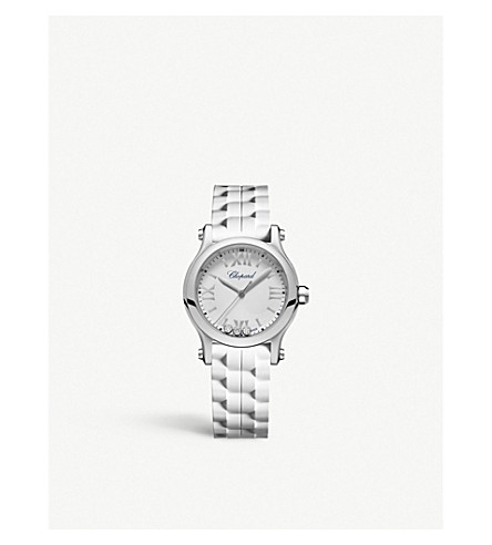 b9e81000e064e CHOPARD - Happy Sport diamond and stainless steel watch