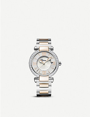 CHOPARD: IMPERIALE 18ct rose-gold, stainless steel, diamond and amethyst watch