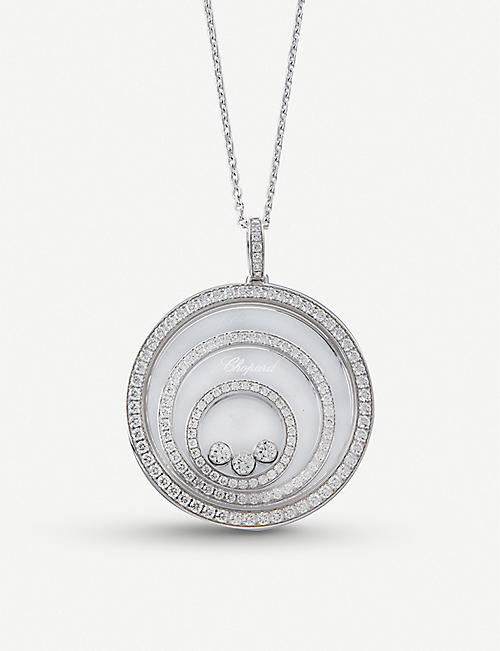 CHOPARD: Happy Spirit 18ct white-gold and diamond pendant