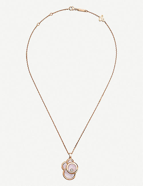 CHOPARD Happy Dreams 18ct rose-gold, mother-of-pearl and diamond necklace