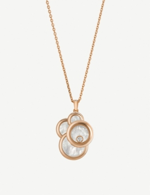 CHOPARD Happy Dreams 18ct yellow-gold, mother-of-pearl and diamond necklac