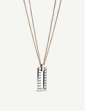 CHOPARD Ice Cube Rock 18ct rose-gold and 18ct white-gold pendant necklace
