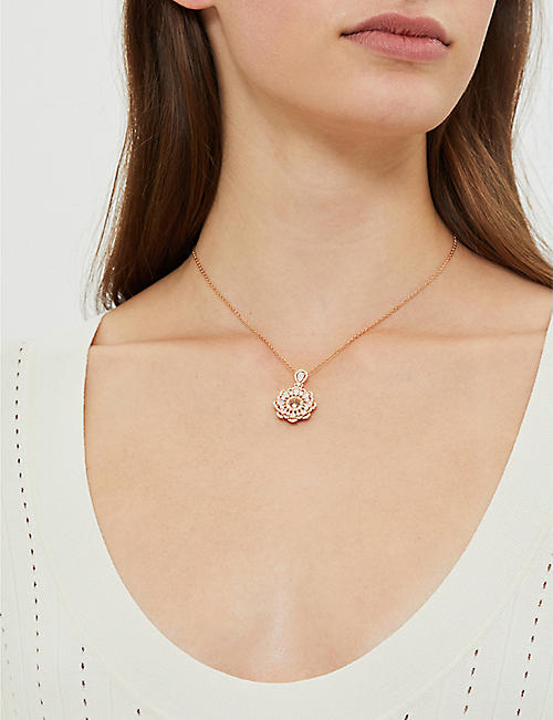 CHOPARD Happy Diamonds rose-gold and diamond necklace
