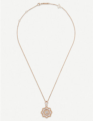CHOPARD: Happy Diamonds rose-gold and diamond necklace