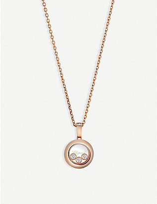 CHOPARD: Happy Diamonds Icons 18ct rose-gold and diamond pendant