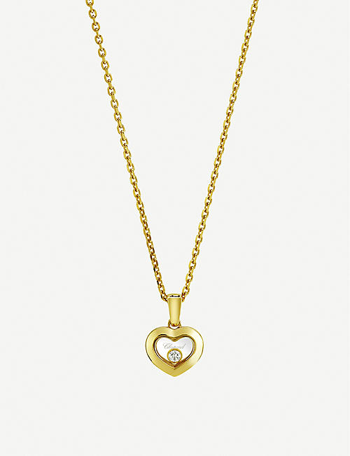 CHOPARD: Happy Diamonds Icons 18ct yellow-gold and diamond pendant