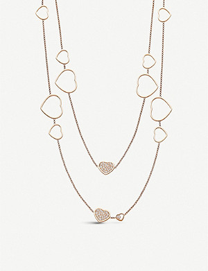 CHOPARD Happy Hearts Sautoir 18ct gold and diamond necklace