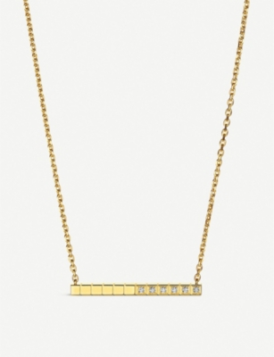 CHOPARD Ice Cube Pure 18ct yellow-gold and diamond necklace