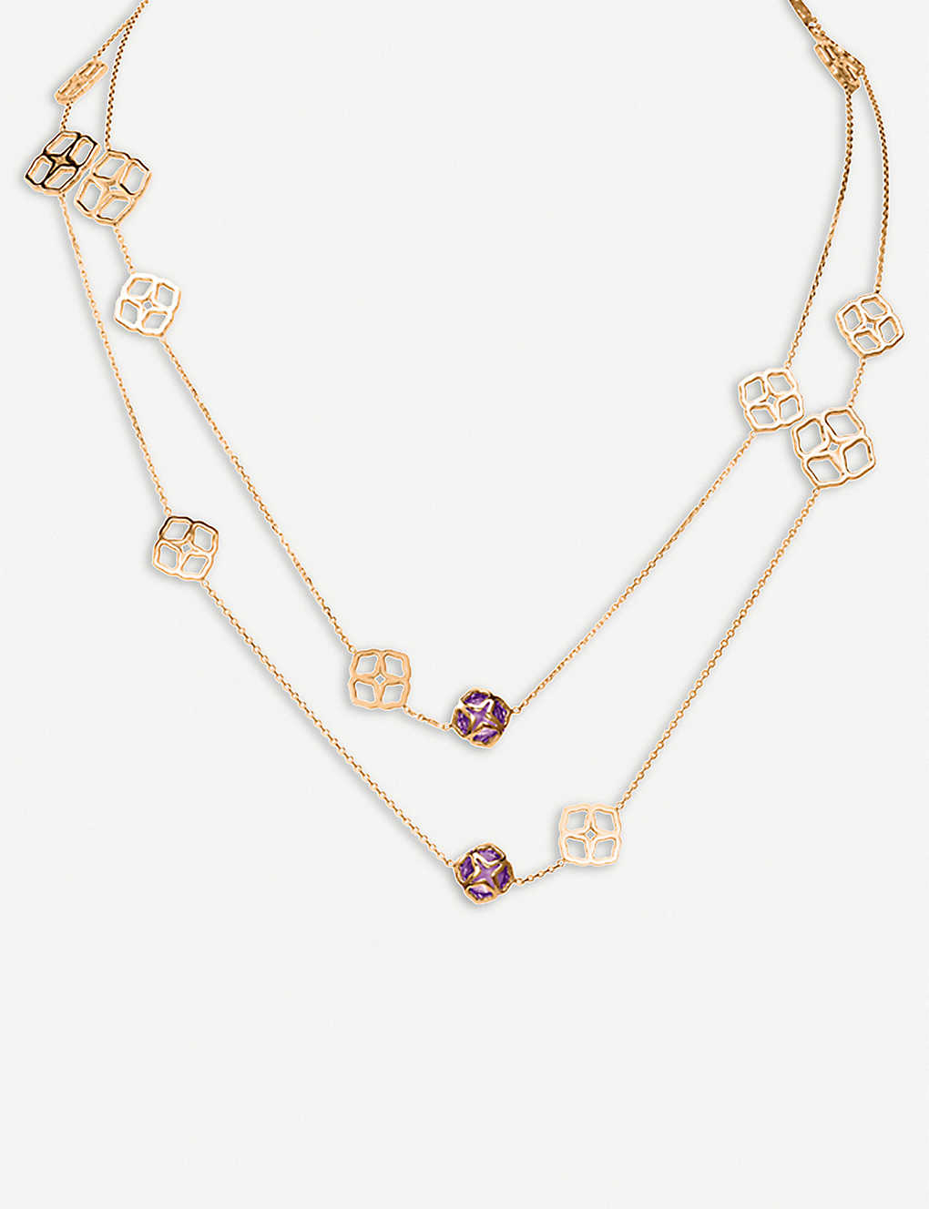 6917fdc60362d CHOPARD - IMPERIALE Sautoir 18ct rose-gold and amethyst necklace |  Selfridges.com