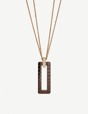 CHOPARD Ice Cube Rock 18ct rose-gold and ceramic necklace