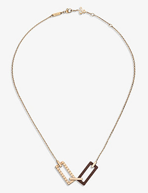 CHOPARD Ice Cube Rock 18ct rose-gold and white-gold necklace