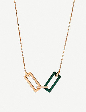 CHOPARD Rihanna Loves Chopard 18ct rose-gold and ceramic necklace