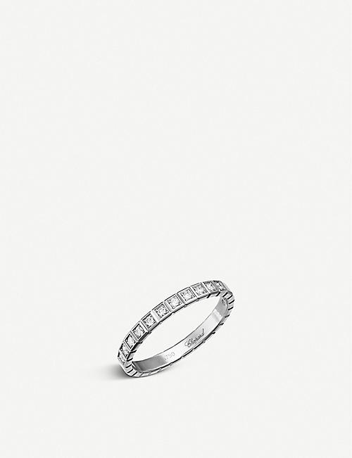 CHOPARD Ice Cube 18ct white-gold and diamond ring