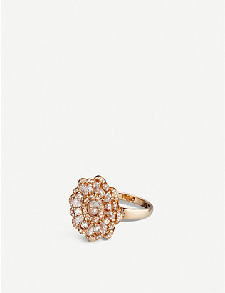 CHOPARD: Happy Diamonds rose-gold and diamond ring