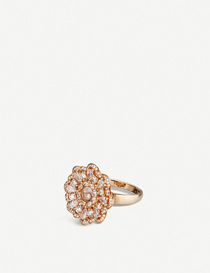 CHOPARD Happy Diamonds rose-gold and diamond ring