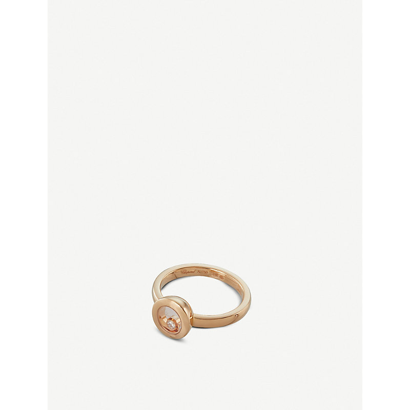 CHOPARD   Happy Diamonds Icons 18ct Rose-Gold And Diamond Ring   Goxip