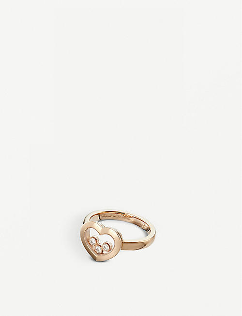 CHOPARD: Happy Diamonds Icons 18ct rose-gold and diamond ring