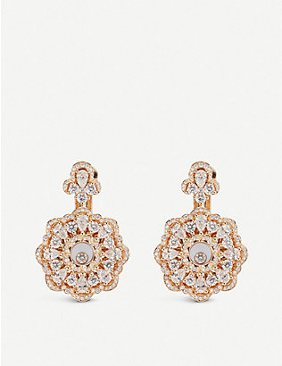 CHOPARD: Happy Diamonds rose-gold and diamond earrings