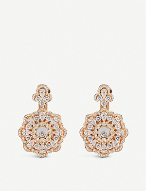 CHOPARD Happy Diamonds rose-gold and diamond earrings