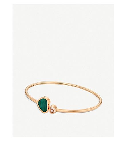 2e661def90d8c Happy Hearts 18ct rose-gold bangle bracelet