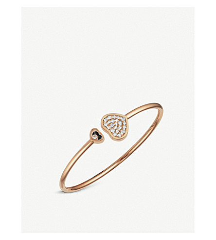 Chopard HAPPY HEARTS 18CT ROSE-GOLD AND DIAMONDS BANGLE