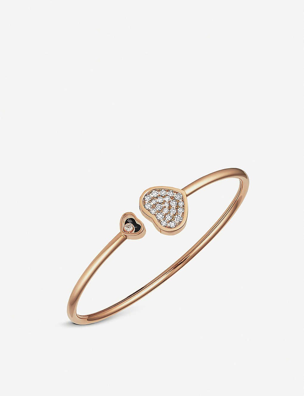 CHOPARD: Happy Hearts 18ct rose-gold and diamonds bangle